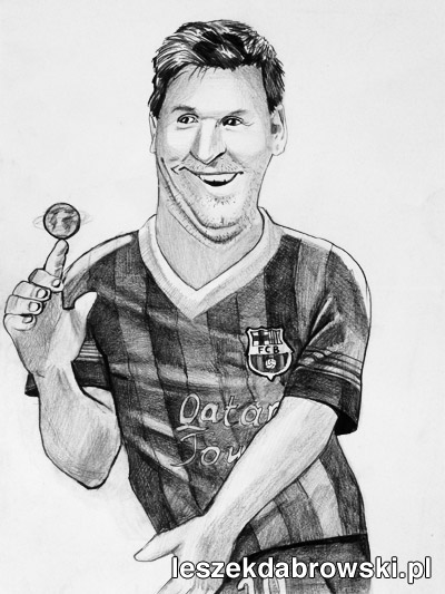 Karykatura Leo Messi
