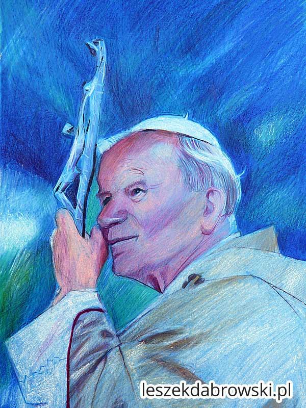 Portret papieski. Portret papieża polaka. Portret Karola Wojtyły.